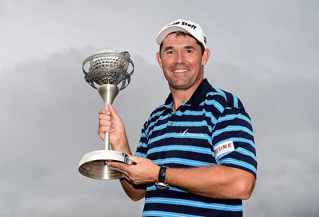 Padraig Harrington's a winner. 110/1 longshot wins his first Tour in eight years