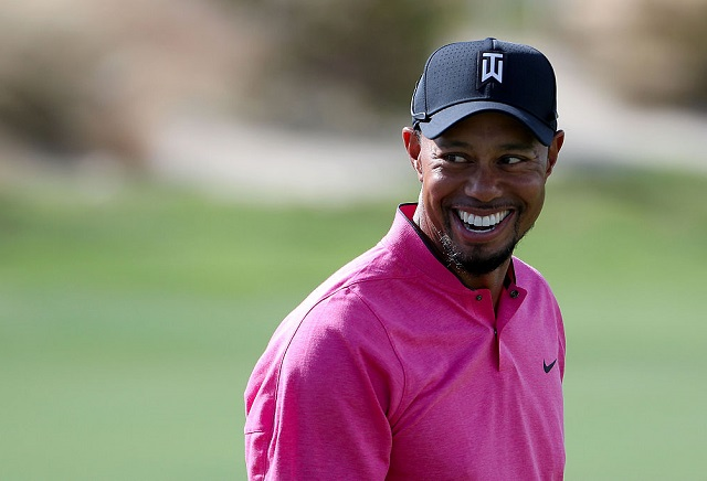 Tiger Woods hits two eagles in nine holes during Wednesday's Pro-Am