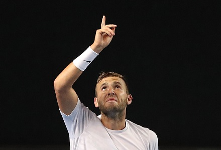 Dan Evans marches on in Melbourne