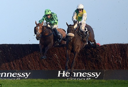 Tom Stanley takes a look as the Hennessy Gold Cup