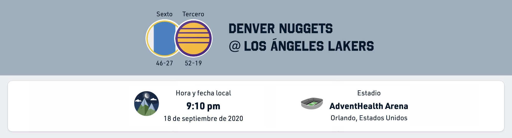 Pron U00f3stico Lakers Vs Nuggets Estad U00edsticas Previa Y Picks