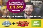 """2 EuroMillionaire Line Bets + 5 """"777"""" Scratchcards for £1.99!"""