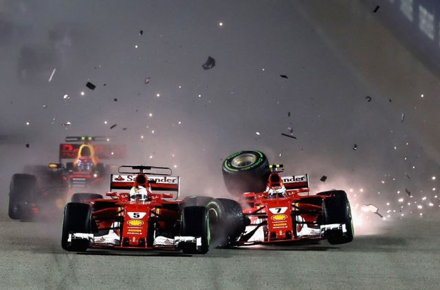 Fortune favours Lewis Hamilton in Singapore