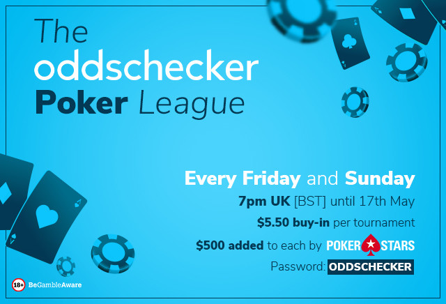The oddschecker Poker League: Leaderboard and Prizes