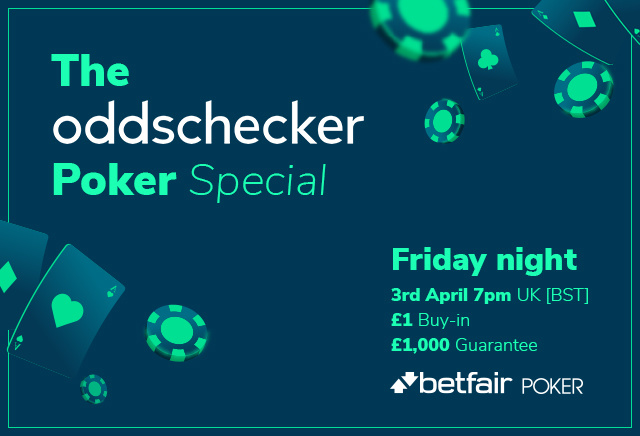 How to enter the Oddschecker £1k Special poker tournament