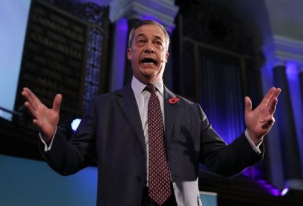 Odds on Tory majority at general election shorten significantly following Nigel Farage comments