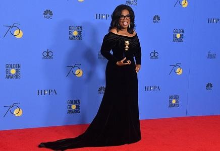 Oprah Winfrey's Golden Globe speech sparks flurry of bets to become US President