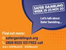 Safer Gambling Week 2020: Let's talk about safer gambling