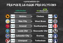 WhoScored vs oddschecker Premier League Score Predictions Gameweek 13