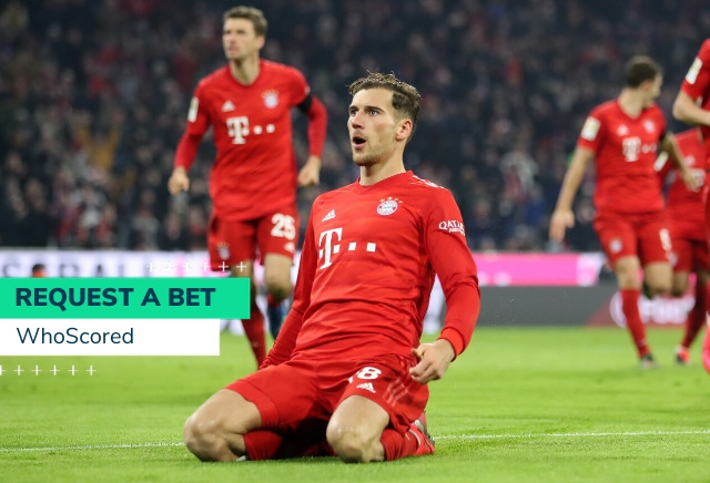 WhoScored's 50/1 Bayer Leverkusen vs Bayern Munich RequestABet