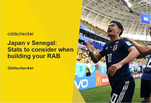 Japan v Senegal: Stats to consider when building your RAB