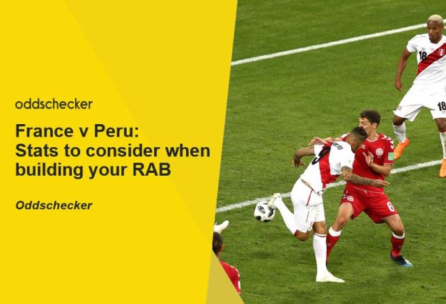 France v Peru: Stats to consider when building your RAB