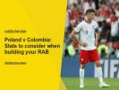 Poland v Colombia: Stats to consider when building your RAB