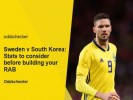 Sweden v South Korea: Stats to help you build your RAB