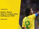 Serbia v Brazil: Stats to consider when building your RAB
