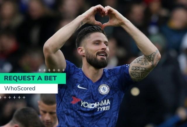WhoScored's Chelsea vs Man City 66/1 RequestABet
