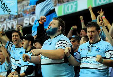 Sharks fans still wearing Sharks gear to let you know they are Sharks fans