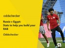 Russia v Egypt: Stats to help you build your RAB